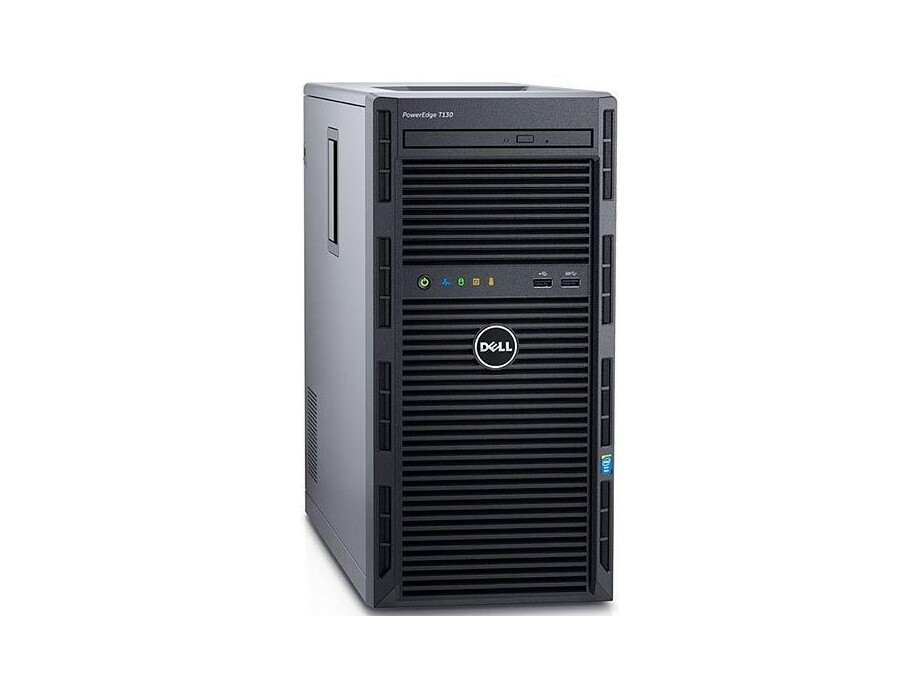"Serveris DELL PowerEdge T130/4 x 3.5""/Xeon E3-1230 v6/8GB/1x2TB/Bezel/DVD RW/On-Board LOM DP/PERC H330/iDRAC8 Bas/3Yr 0"