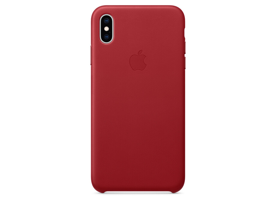 MRWQ2 iPhone XS Max Leather Case - (PRODUCT)RED 0