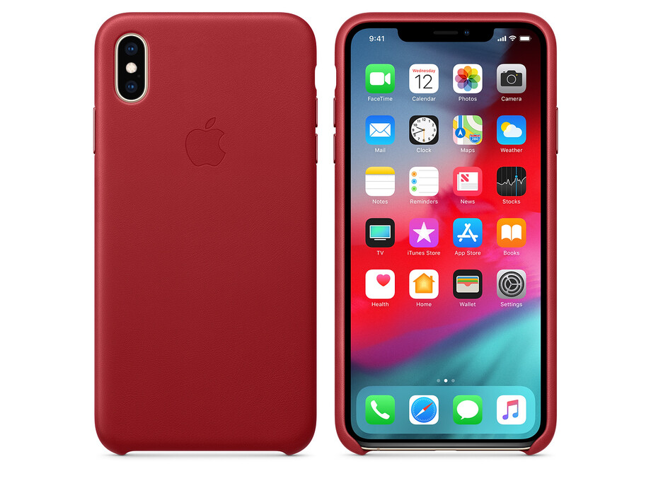 MRWQ2 iPhone XS Max Leather Case - (PRODUCT)RED 2