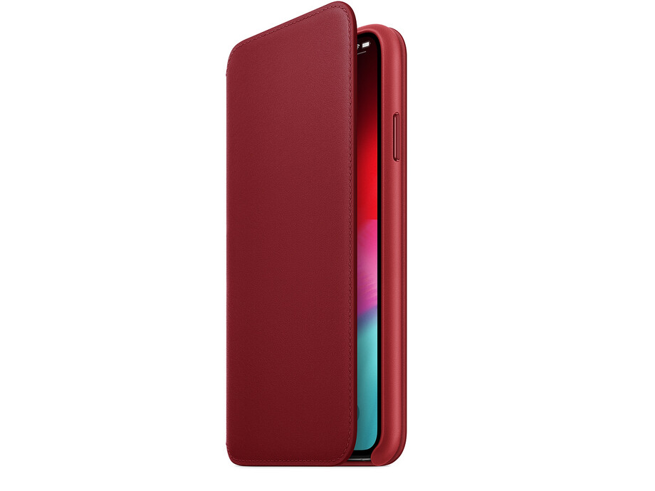 MRX32 iPhone XS Max Leather Folio - (PRODUCT)RED 1