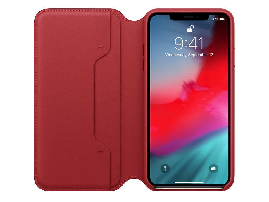 MRX32 iPhone XS Max Leather Folio - (PRODUCT)RED 0