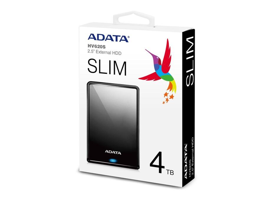 Ārējais cietais disks External ADATA external HDD HV620S 1TB 2,5'' USB3.1 Black 3