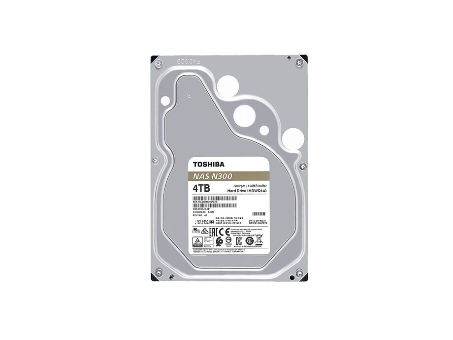 Internal HDD Toshiba N300, 3.5'', 4TB, SATA/600, 7200RPM, 128MB cache 2
