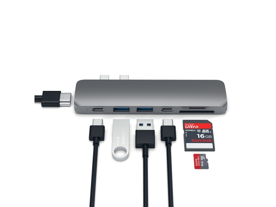 EOL Adapteris Satechi USB-C PRO Hub 4K HDMI 85W Space Grey 3