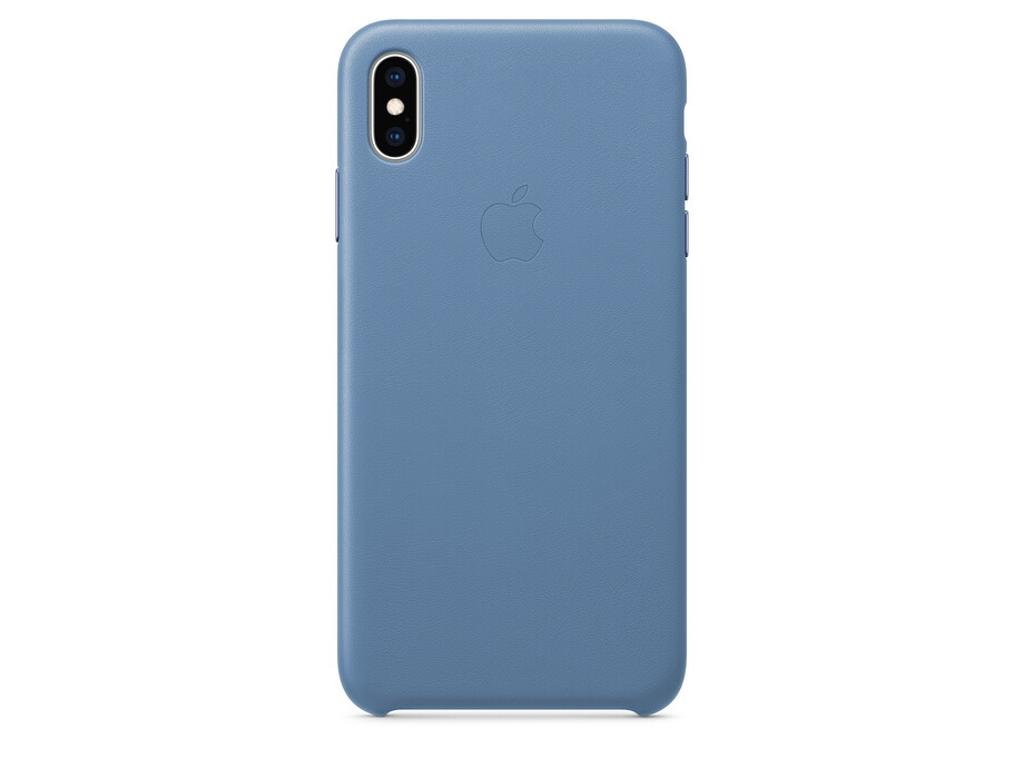 iPhone XS Max Leather Case - Cornflower 2