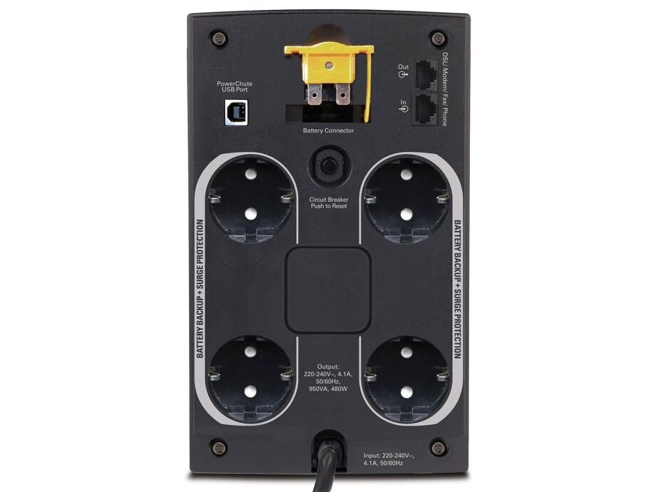 Nepārtrauktās barošanas bloks APC Back-UPS 950VA, 230V, AVR, Schuko 1
