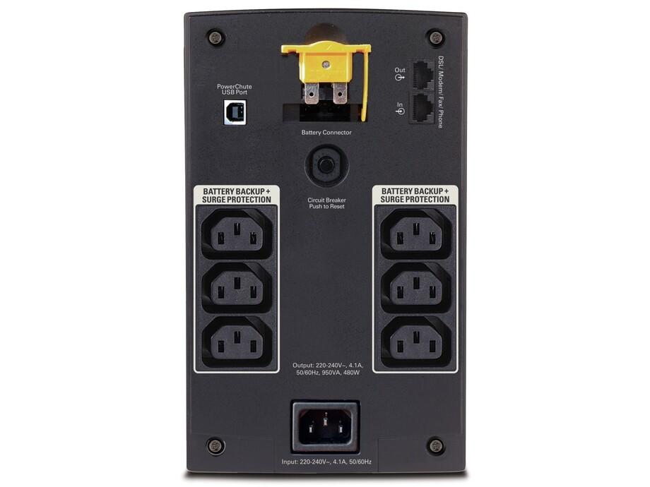 Nepārtrauktās barošanas bloks APC Back-UPS 950VA, 230V, AVR, IEC Sockets 1