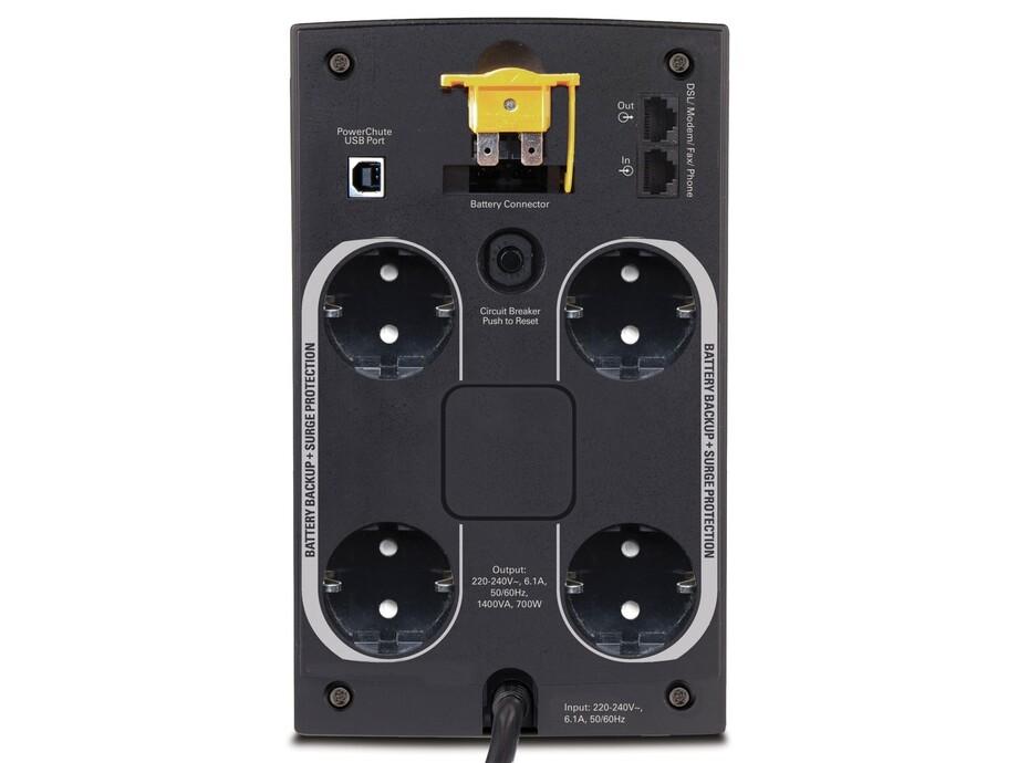 Nepārtrauktās barošanas bloks APC Back-UPS 1400VA, 230V, AVR, Schuko 1