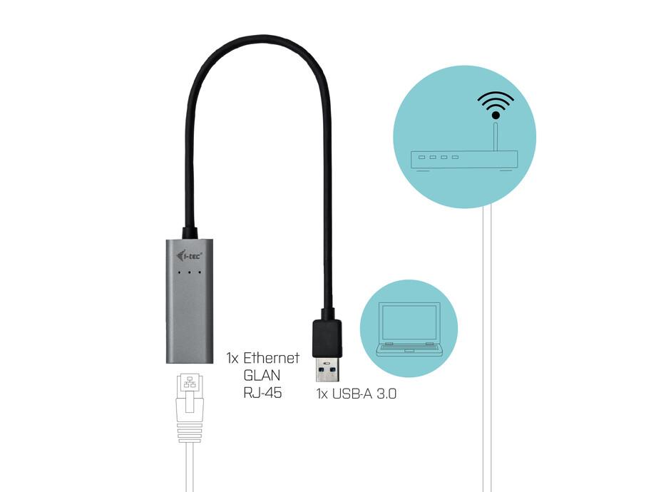 Tīkla adapteris USB 3.0 to Gigabit ethernet 10/100/1000Mbps 1