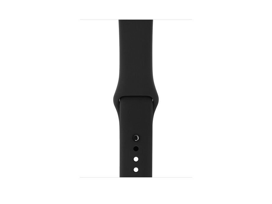 Apple Watch Series 3 GPS, 42mm Space Grey Aluminium Case with Black Sport Band 2
