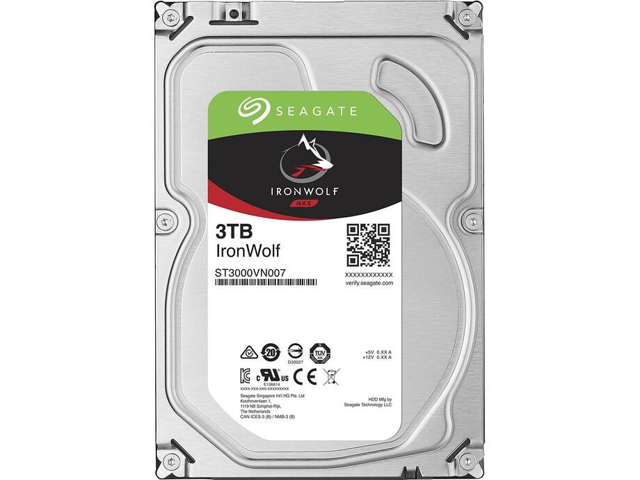 Cietais disks Seagate IronWolf HDD 3.5'' 3TB SATA3 5900RPM 64MB 1