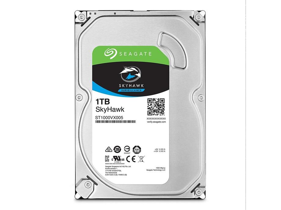 """Cietais disks SEAGATE SkyHawk 1TB SATA 3.0 64MB 5900 3,5"""" ST1000VX005 1"""