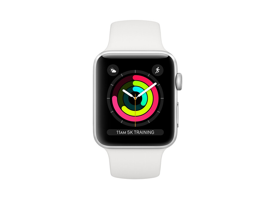 Apple Watch Series 3 GPS, 42mm Silver Aluminium Case with White Sport Band 0