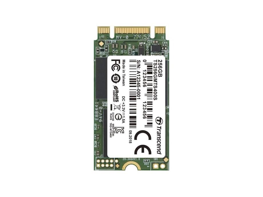 SSD 256GB M.2 Transcend MTS400 SATA3 R/W: 560/460 MB/s 2242 0