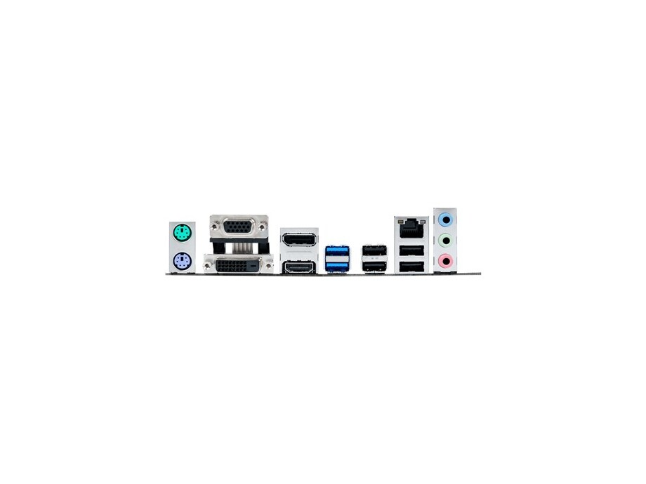 Pamatplate ASUS H110M-A/DP LGA1151 H110 HDMI DisplayPort DVI-D VGA SATA 6Gb/s USB 3.0 uATX no I/O shield 1