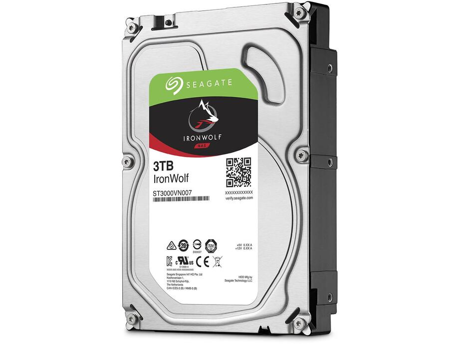 Cietais disks Seagate IronWolf HDD 3.5'' 3TB SATA3 5900RPM 64MB 0
