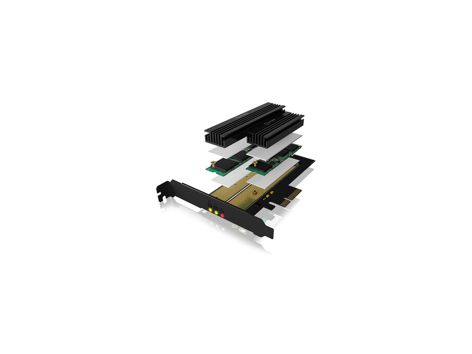 IcyBox PCIe extension card for 2x SATA/NWMe M.2 1