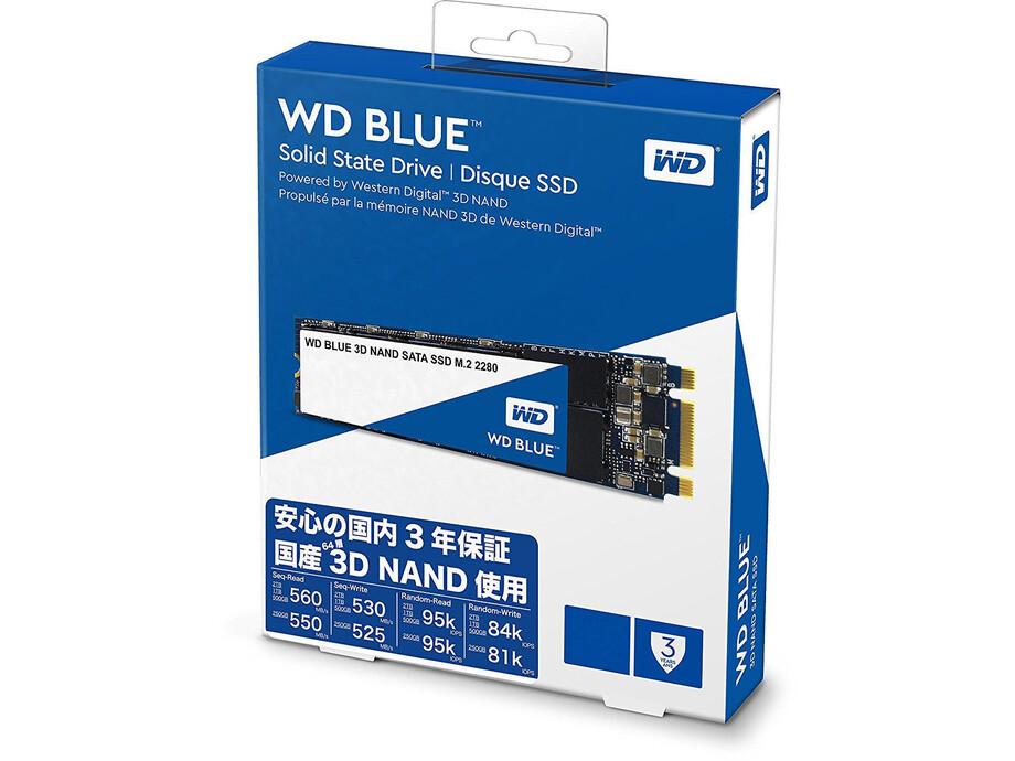 SSD disks Western Digital 3D NAND, 250GB, M.2 2280, 550/525 MBytes/sec, SATA 3