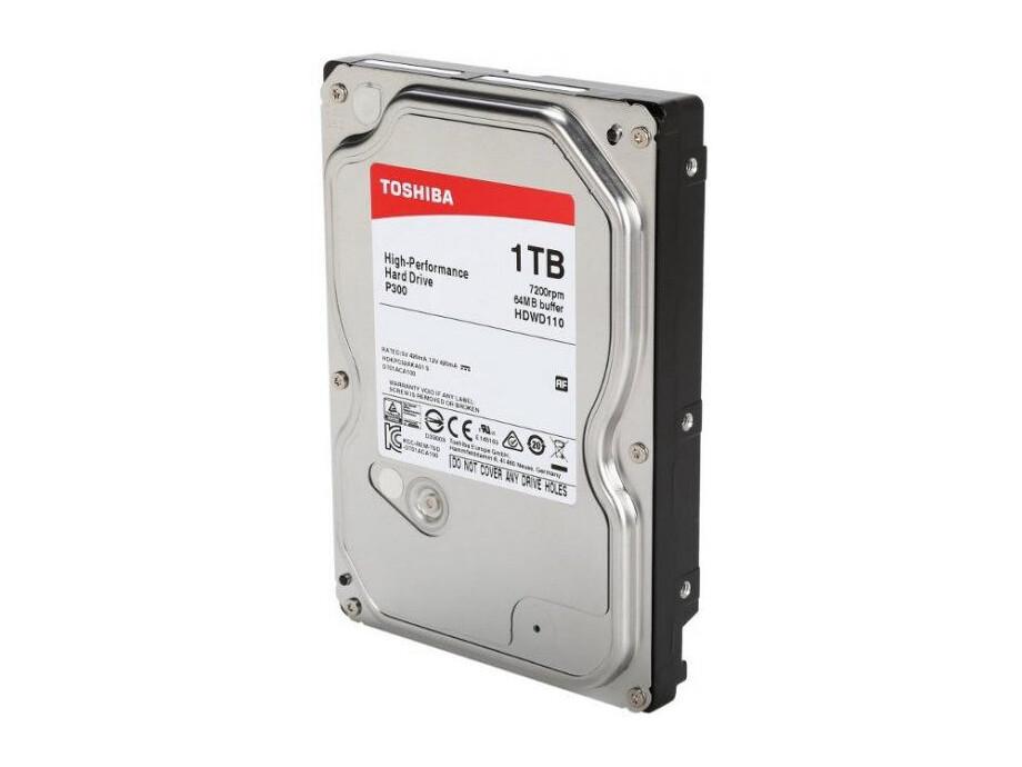"Cietais disks 1TB - Toshiba P300 SATA3 3.5"" 7200RPM 64MB cache 1"