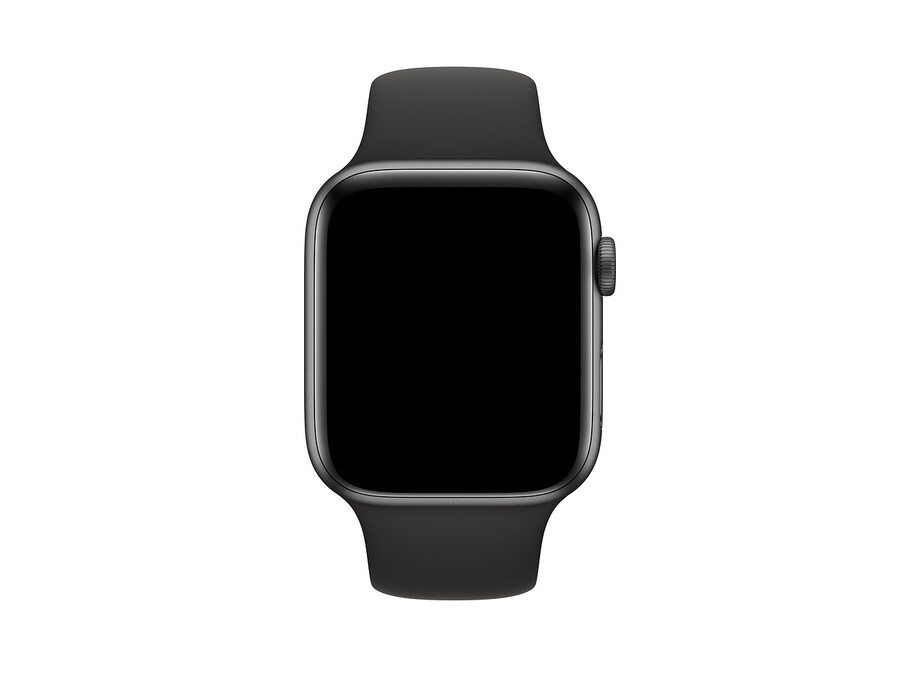 Siksniņa Apple Watch 44mm Black Sport Band - Size S/M 1