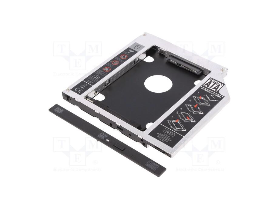 "Pāreja 2.5"" SSD/HDD instalation frame in 9.5mm Slim 5.25"" CD/DVD slot, Digitus 0"