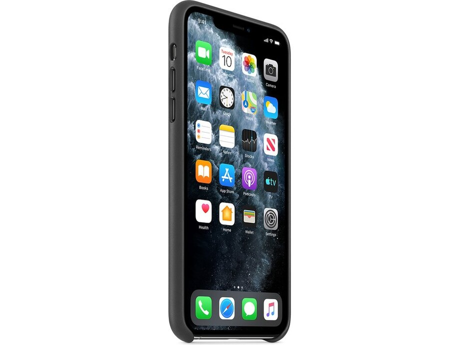 iPhone 11 Pro Max Leather Case - Black 0