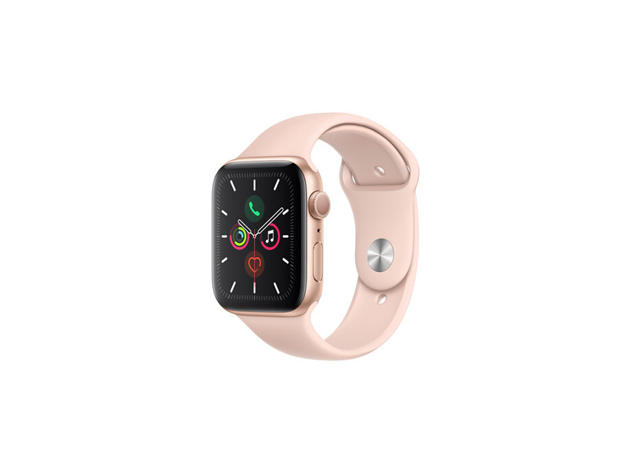 Apple Watch Series 5 GPS, 44mm Gold Aluminium Case with Pink Sand Sport Band - S/M & M/L EOL 1