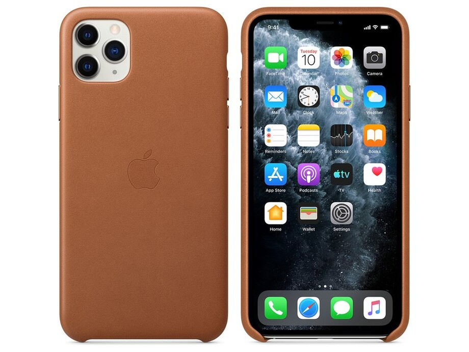 iPhone 11 Pro Max Leather Case - Saddle Brown 1