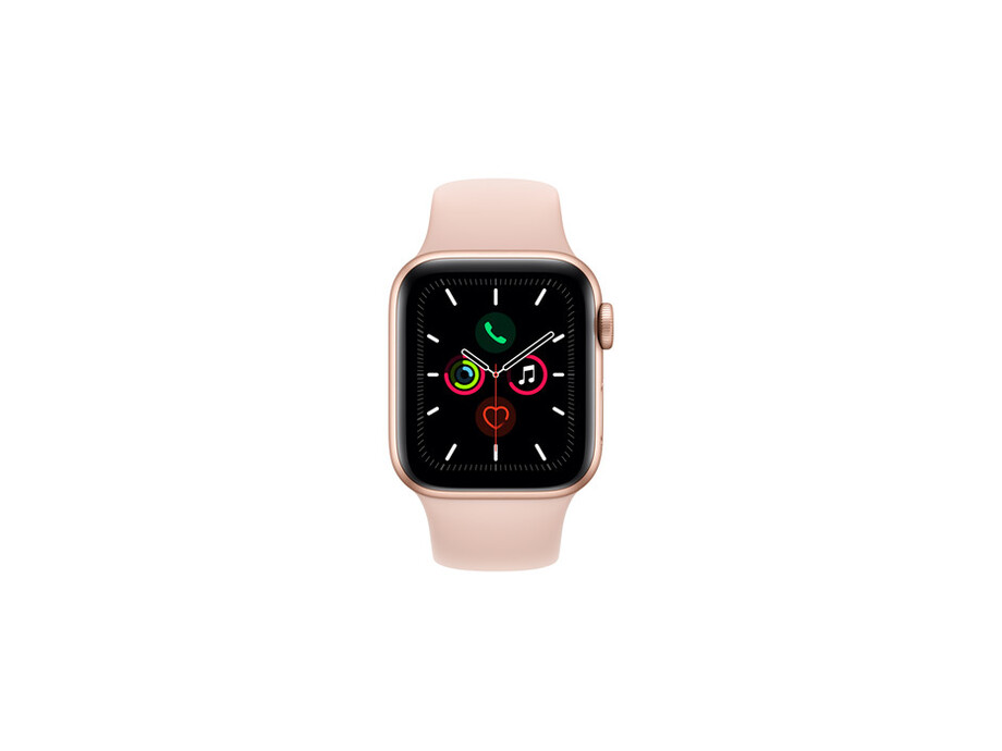 Apple Watch Series 5 GPS, 44mm Gold Aluminium Case with Pink Sand Sport Band - S/M & M/L EOL 0