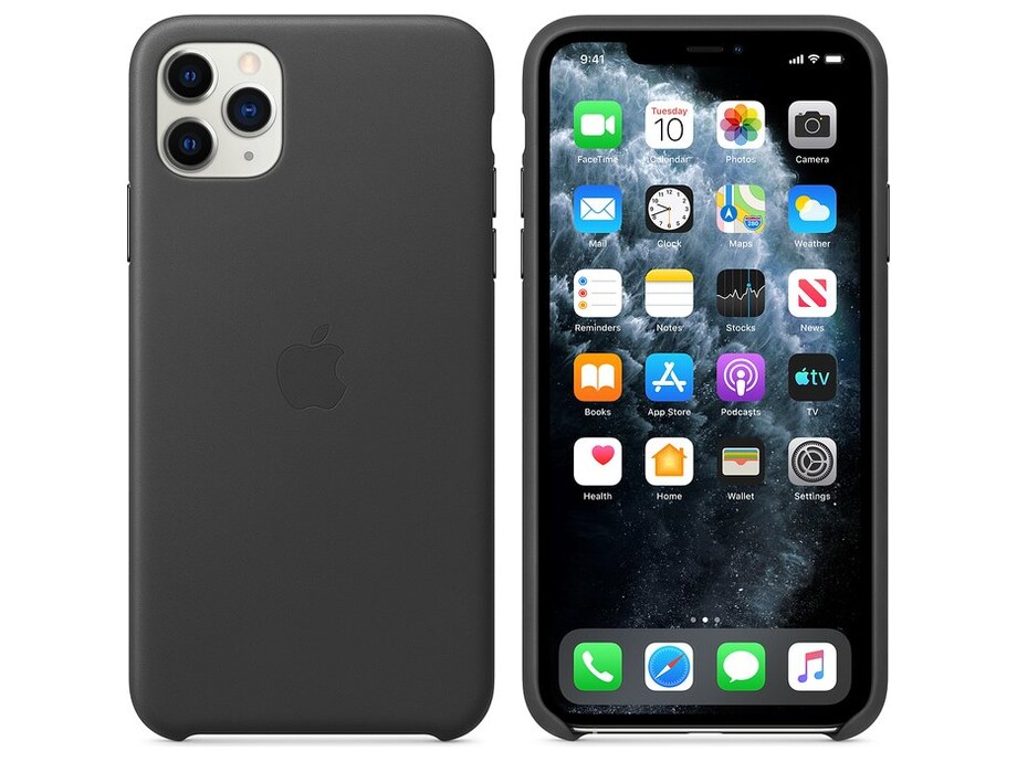 iPhone 11 Pro Max Leather Case - Black 1
