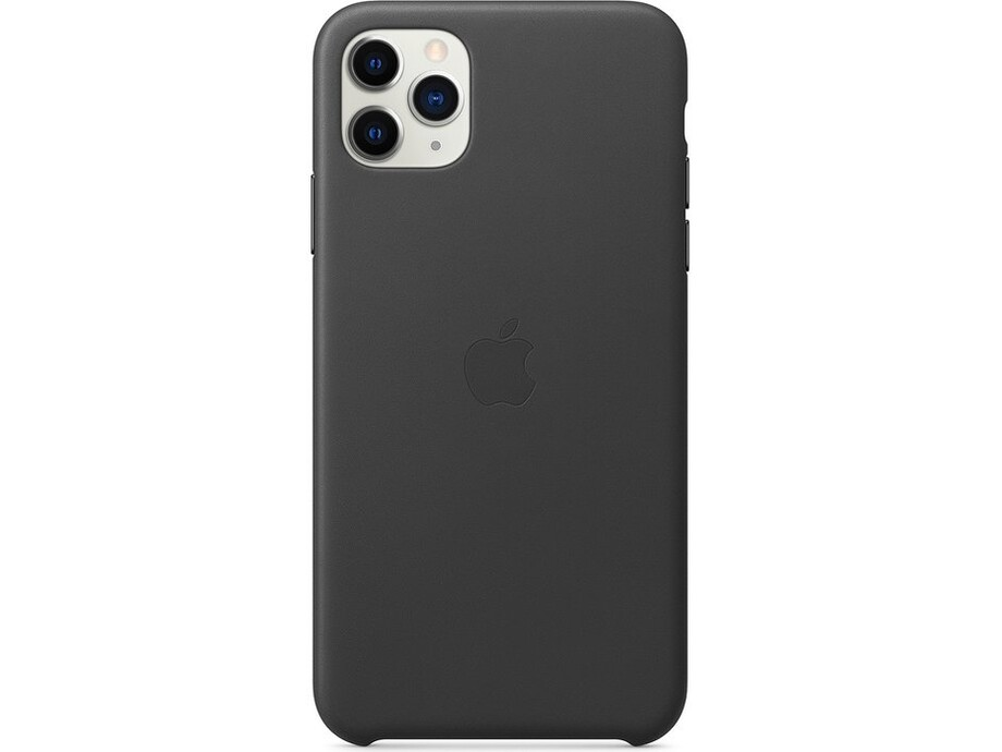iPhone 11 Pro Max Leather Case - Black 2