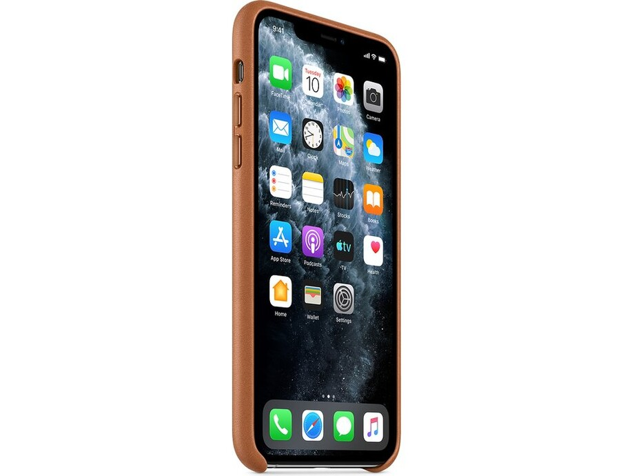 iPhone 11 Pro Max Leather Case - Saddle Brown 0