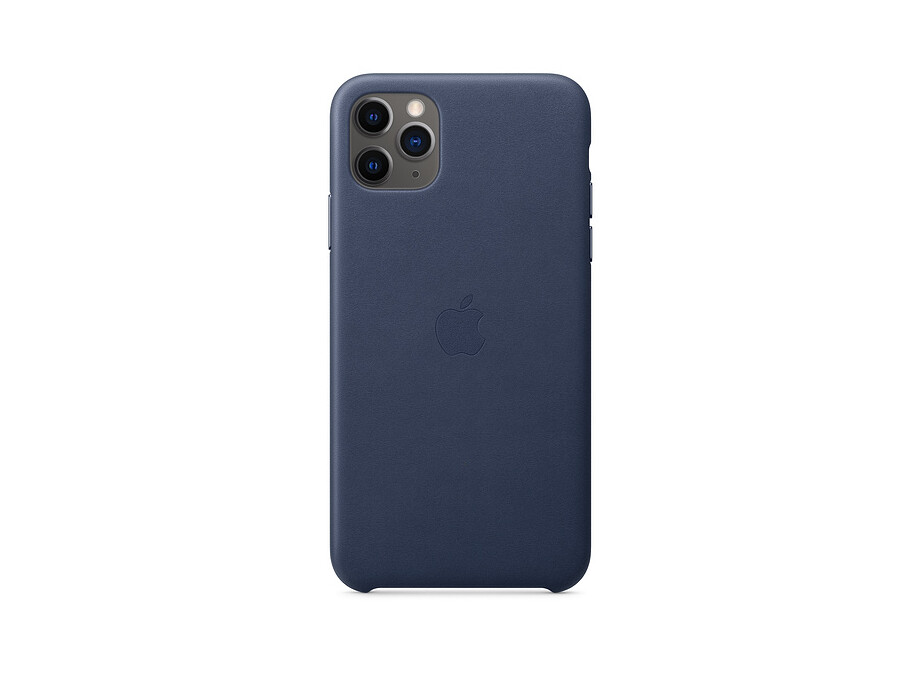 iPhone 11 Pro Max Leather Case - Midnight Blue 0