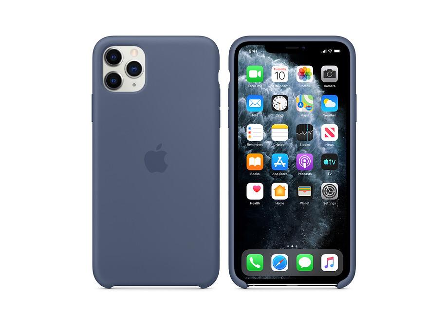iPhone 11 Pro Max Silicone Case - Alaskan Blue EOL 2