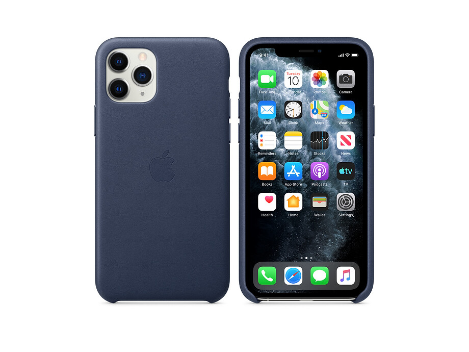 iPhone 11 Pro Leather Case - Midnight Blue 2