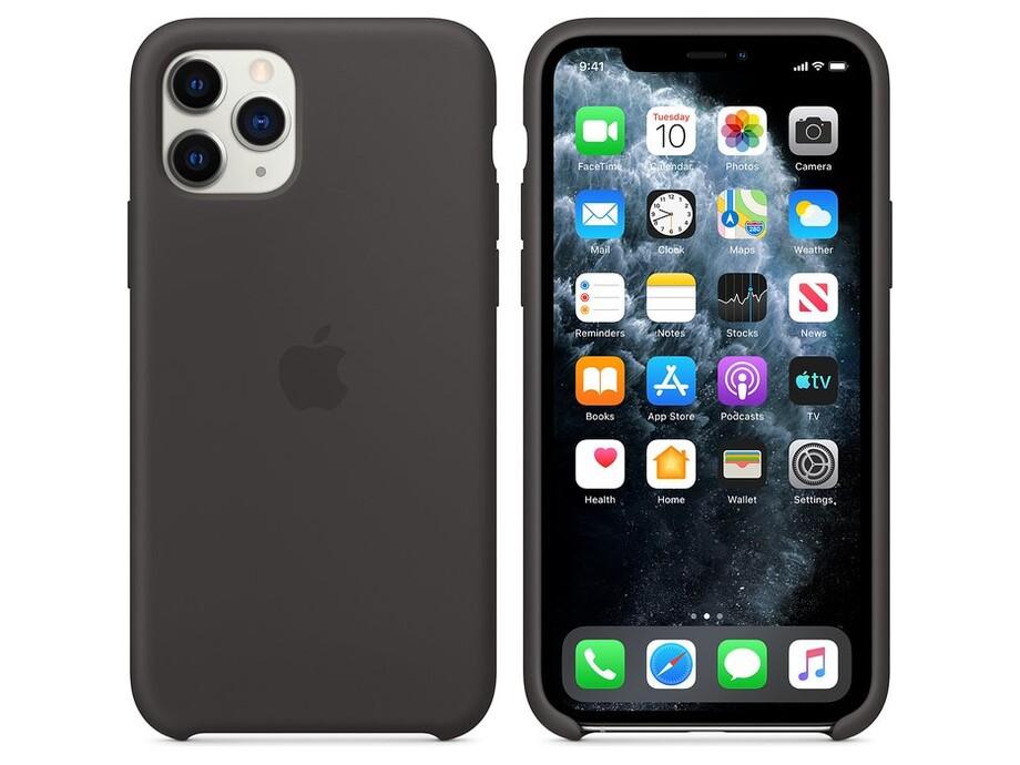 iPhone 11 Pro Silicone Case - Black 2