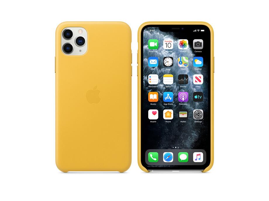 iPhone 11 Pro Max Leather Case - Meyer Lemon EOL 2