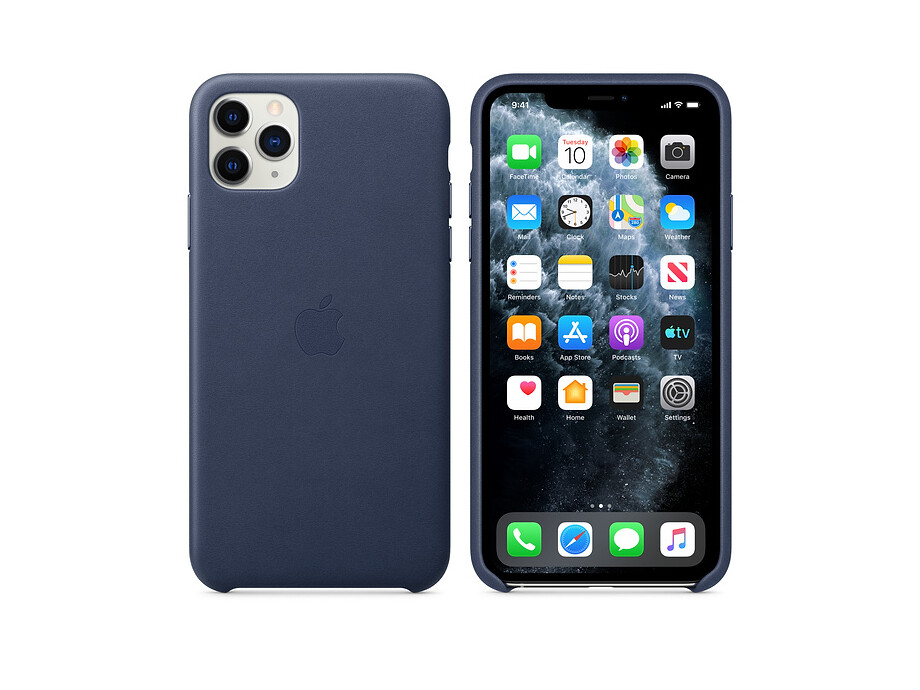 iPhone 11 Pro Max Leather Case - Midnight Blue 2