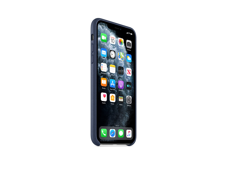 iPhone 11 Pro Max Leather Case - Midnight Blue 1