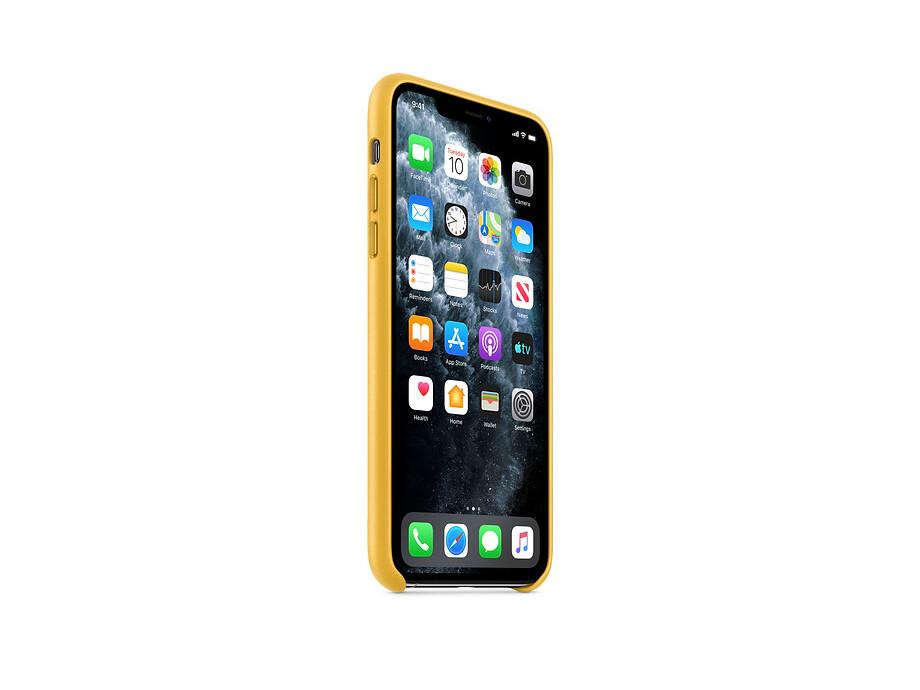 iPhone 11 Pro Max Leather Case - Meyer Lemon EOL 1