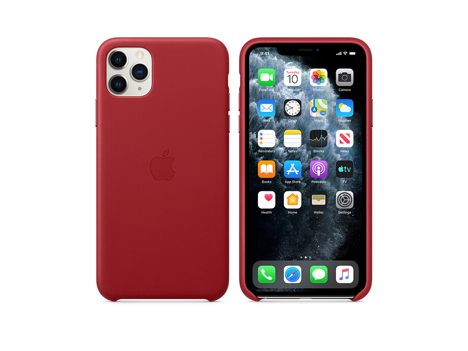 iPhone 11 Pro Max Leather Case - (PRODUCT)RED 2