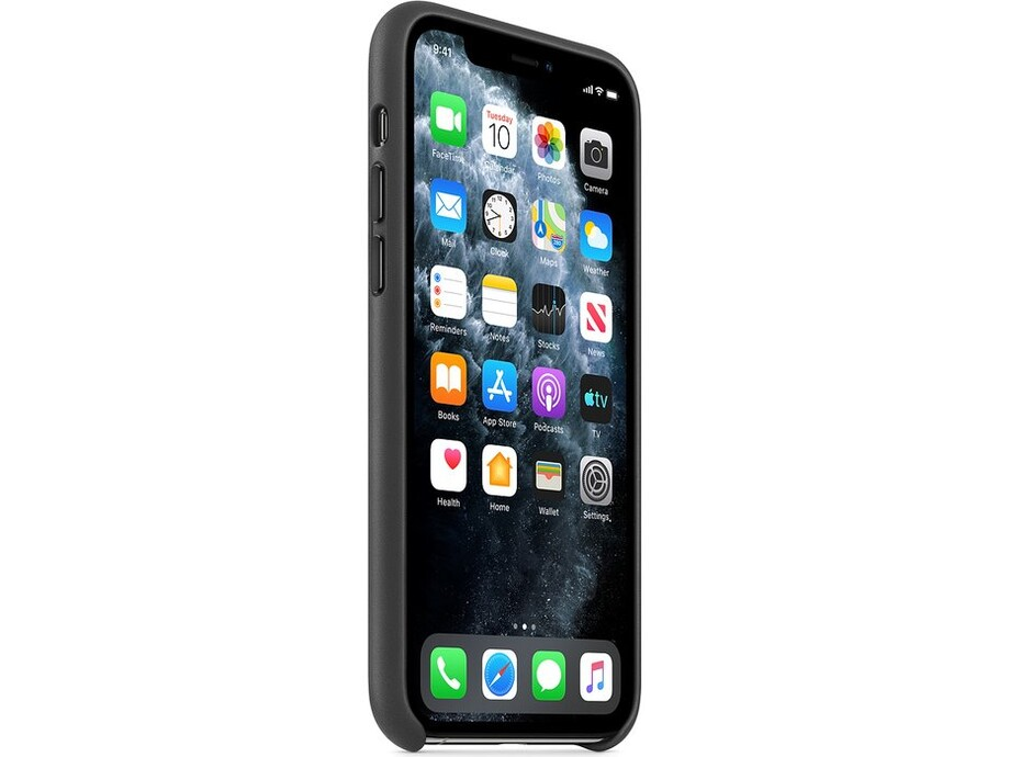 iPhone 11 Pro Leather Case - Black 1