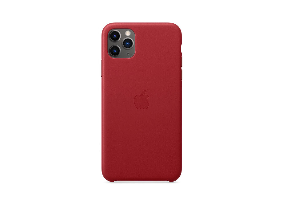 iPhone 11 Pro Max Leather Case - (PRODUCT)RED EOL 0