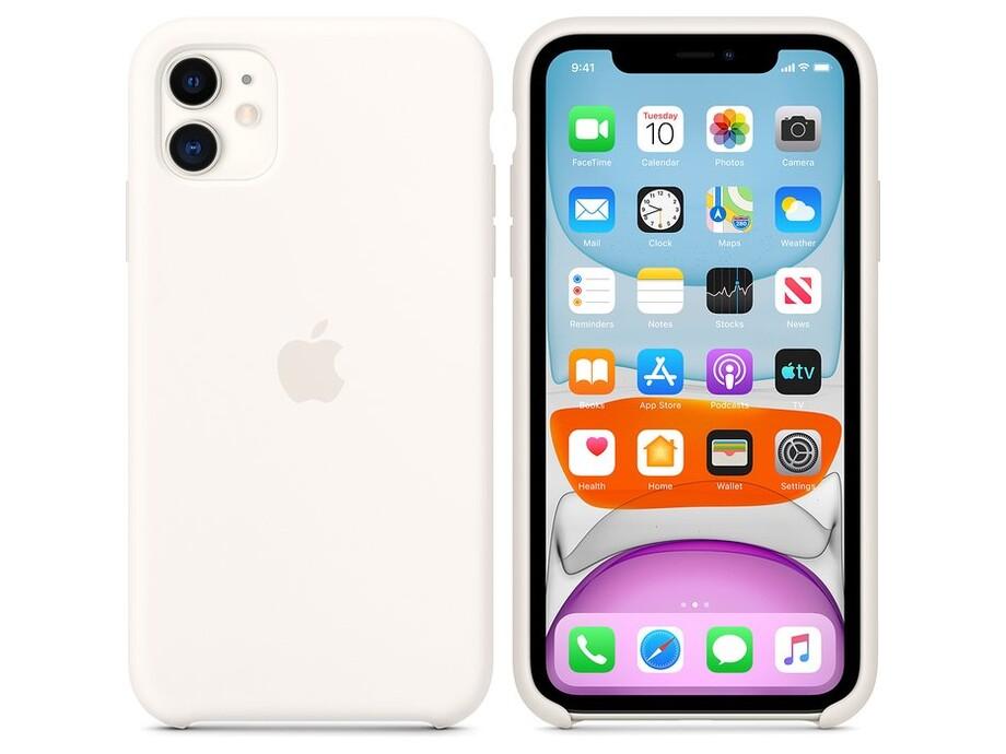iPhone 11 Silicone Case - White 2