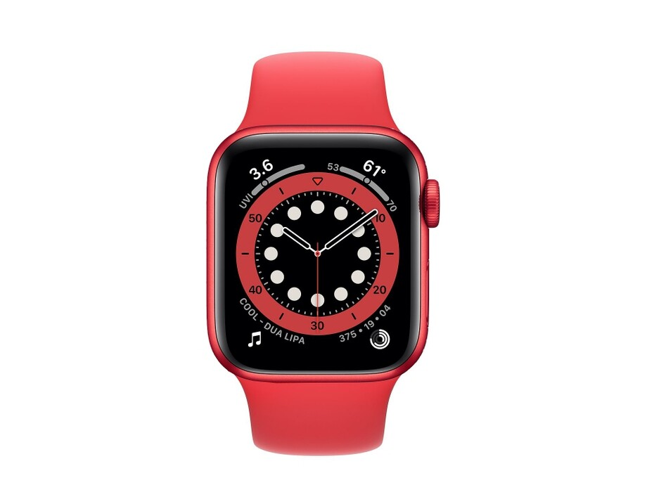 Apple Watch Series 6 GPS, 44mm PRODUCT(RED) Aluminium Case with PRODUCT(RED) Sport Band - Regular 1