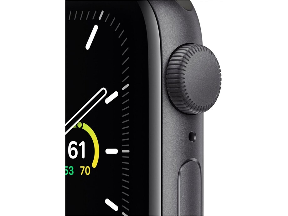 Apple Watch SE GPS, 44mm Space Gray Aluminium Case with Black Sport Band - Regular 1