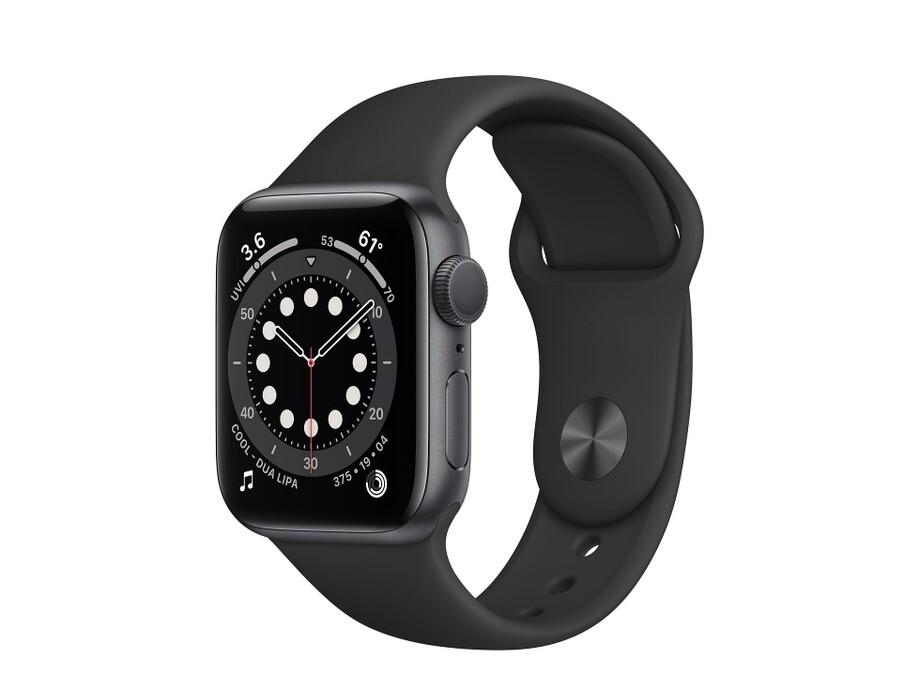 Apple Watch Series 6 GPS, 40mm Space Gray Aluminium Case with Black Sport Band - Regular 0