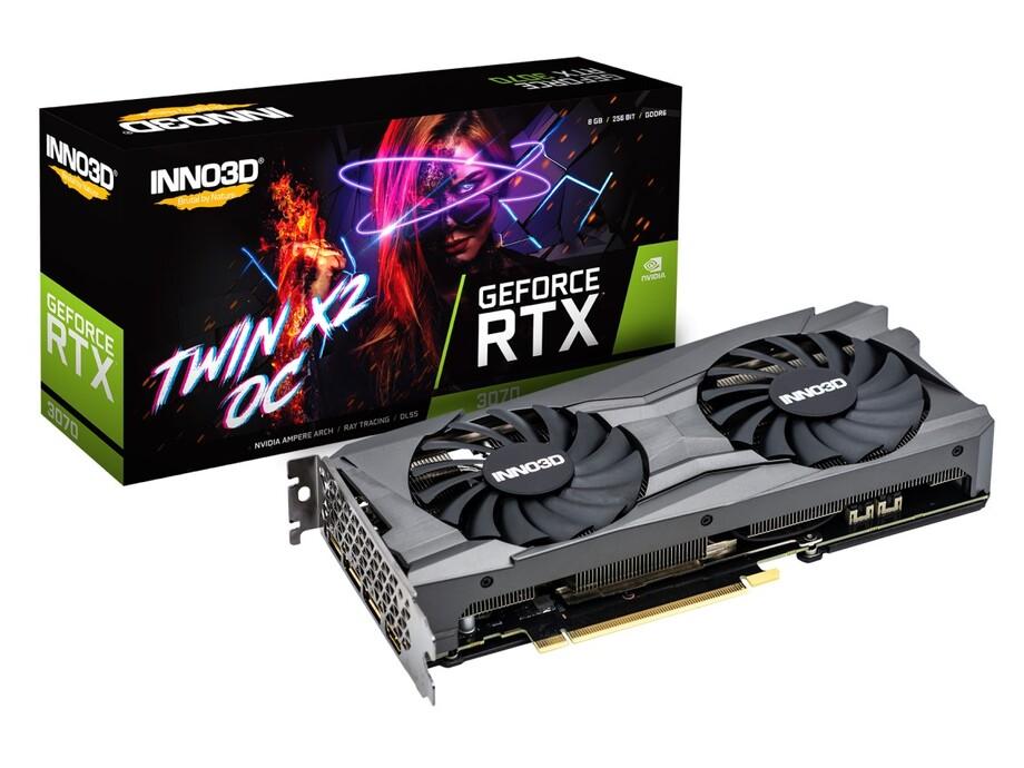 Videokarte iNNO3D GeForce RTX 3070 TWIN X OC 8GB 0