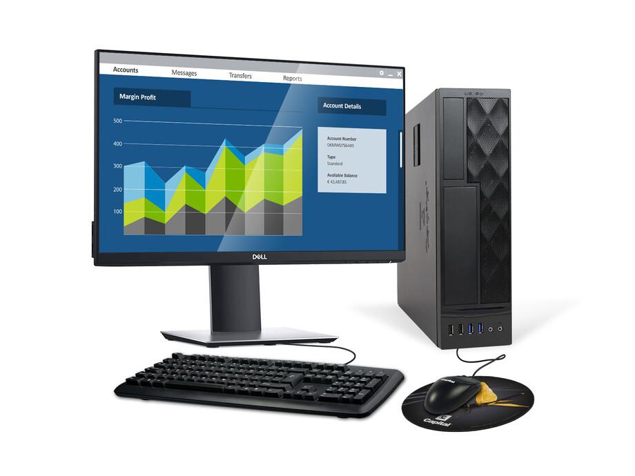 Dators Capital NEO K School /G6400/120GB/4GB/SFF/1xDELL24/Webkamera/K+M/Windows10PRO 0