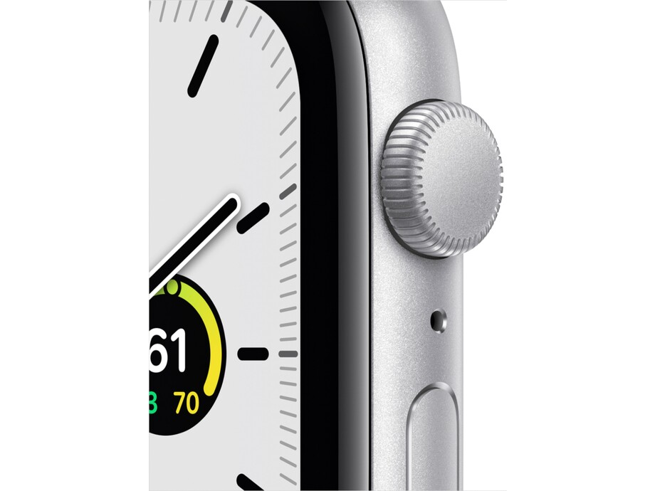 Apple Watch SE GPS, 40mm Silver Aluminium Case with White Sport Band - Regular EOL 1